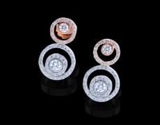 PantaRhei, Ohrschmuck 750/- Gold mit Diamanten